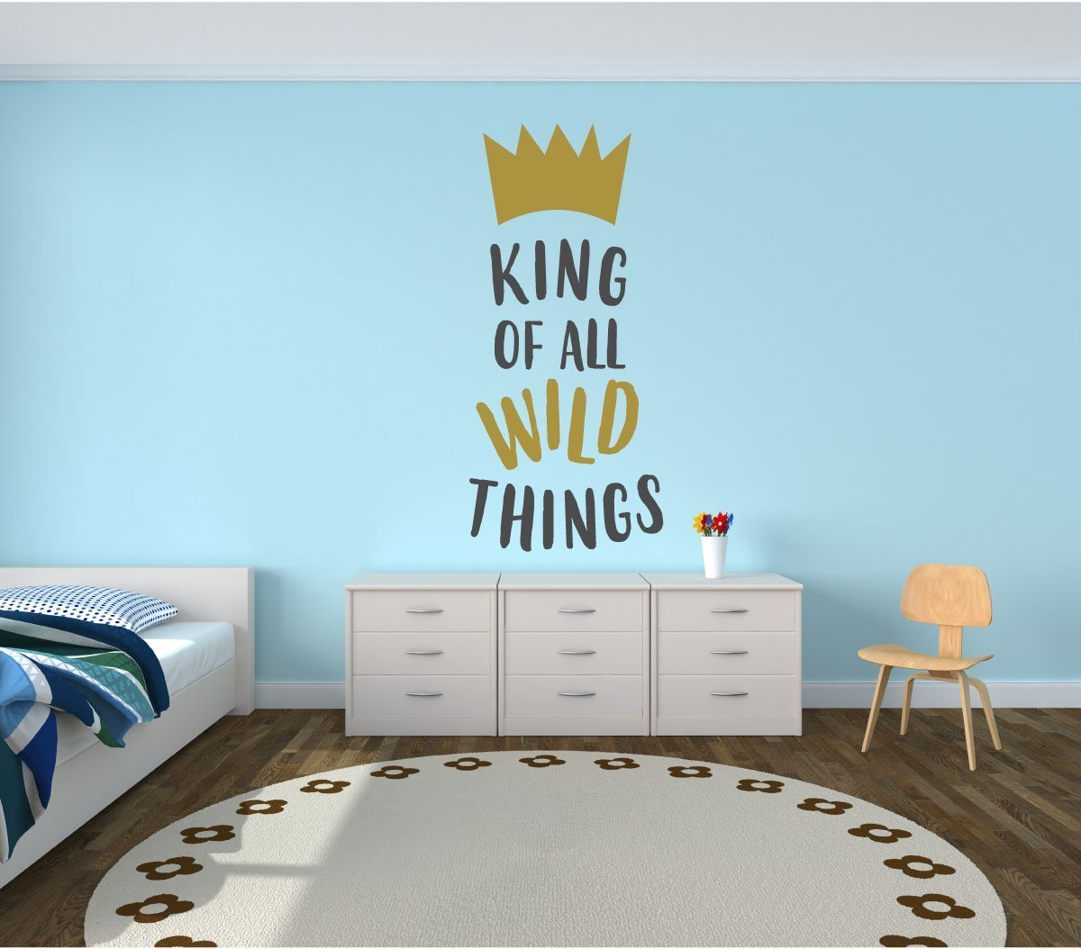 Wall Decal For Kids - King Of Wild Things - Where The Wild Things Are Theme Room - Crown Design - Decor for Children's Bedroom or Playroom