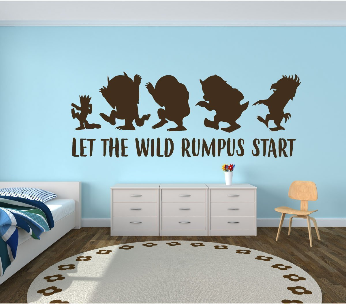 Wall Decal For Kids - Let The Wild Rumpus Start - Where The Wild Things Are Theme Room-Crown Design-Vinyl Wall Art and Decor for Children's