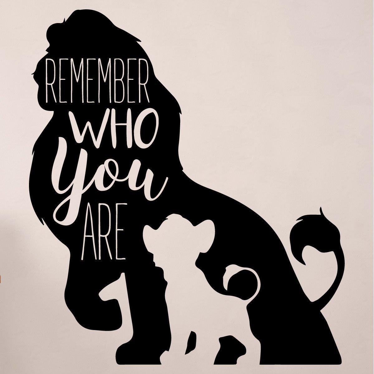 Wall Quote Stickers Bedroom Simba Wall Decor Disney The Lion King Decor Remember