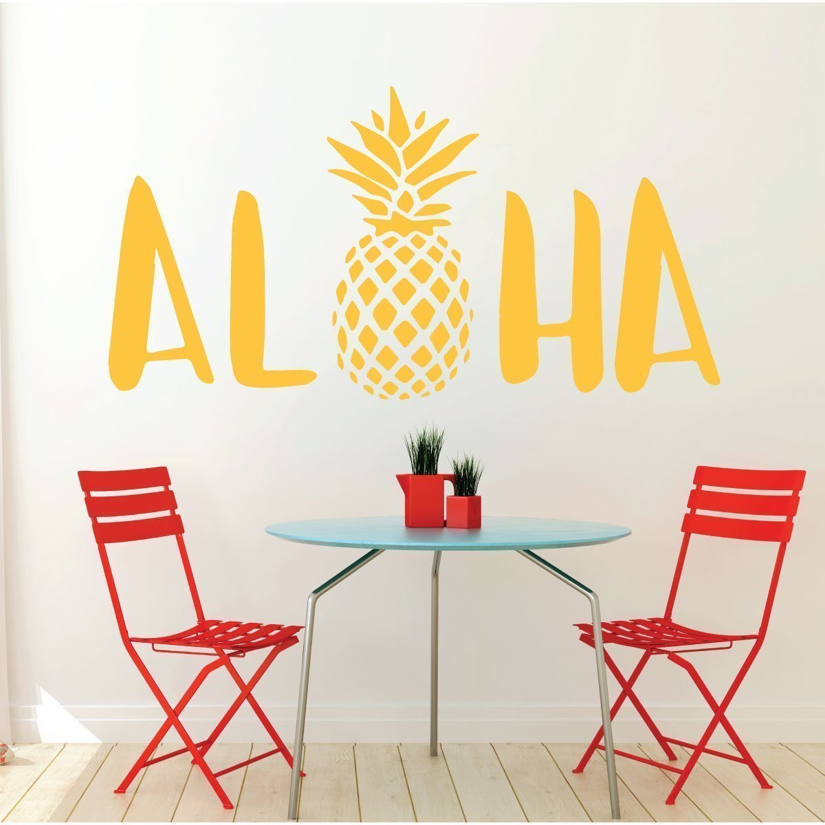 Aloha Wall Decal Sticker With Hawaiian Pineapple Design ...