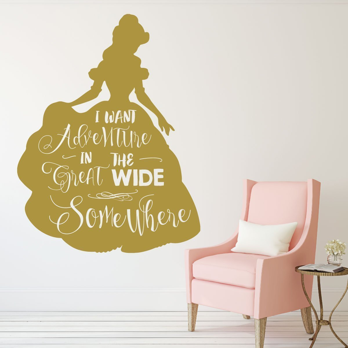 Disney Princesses Wall Decor- BELLE - Beauty and the Beast Theme ...
