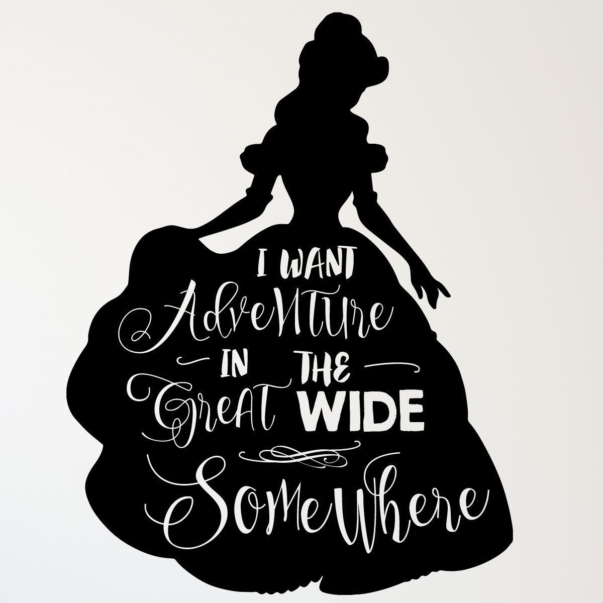 Disney Princesses Wall Decor Belle Beauty And The Beast