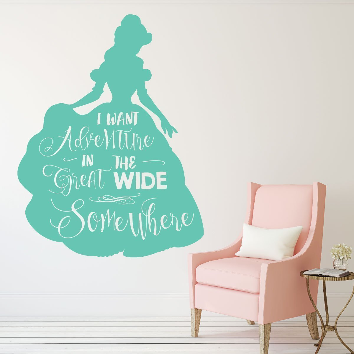 Disney Princesses Wall Decor- BELLE - Beauty and the Beast Theme Party Decorations - I want Adventure - For the Playroom, Child Room