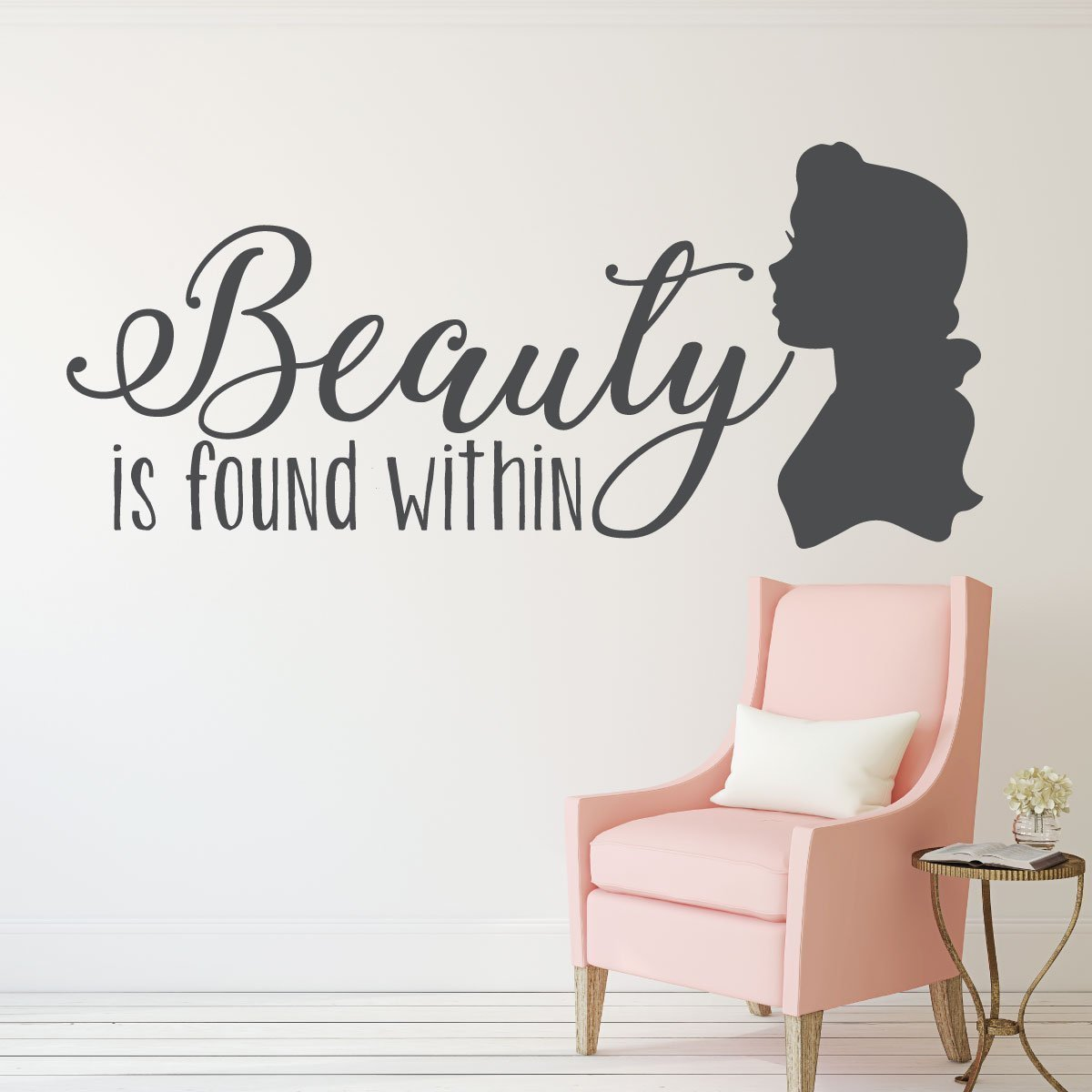 Disney Princesses Wall Decoration- BELLE - Beauty Found Within -Home Decor For the Playroom, Child Room, or Nursery, Wall Art
