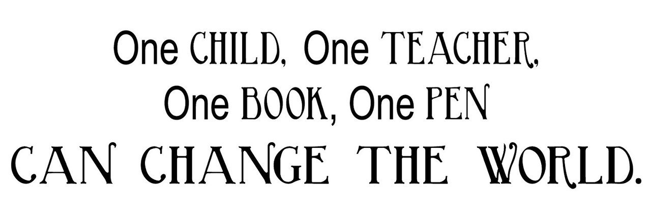 One Child Can Change the World Custom Decal