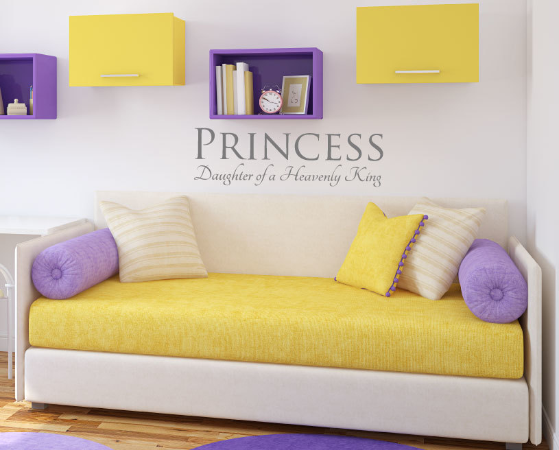 Princess Wall Decal - Daughter of a Heavenly King Home Decor for Girls Bedroom