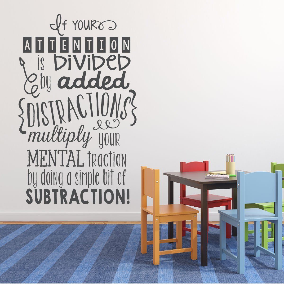 Classroom Decor Vinyl ~ Math classroom decorations vinyl wall decal stickers or