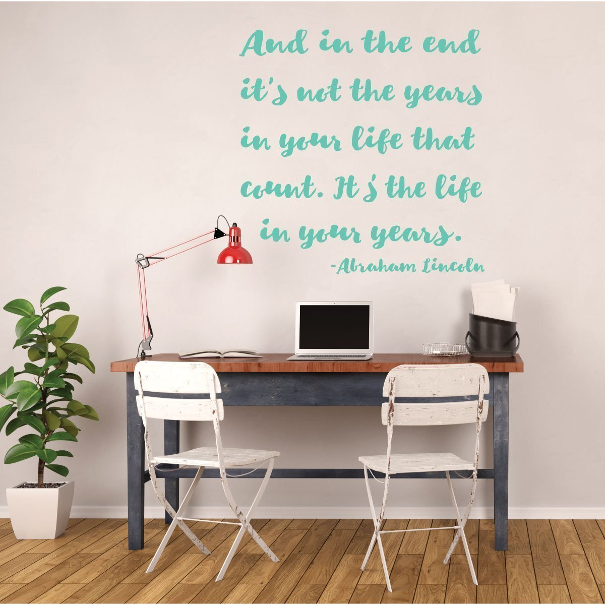 Inspirational Quotes Wall Sign Decor - Abraham Lincoln Quote - In the End - Motivational Wall Sign Vinyl Decal Decorations