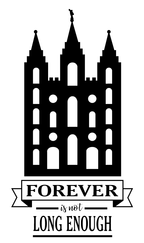 Custom Temple - Forever is not long enough vinyl decal