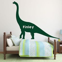 dark green dinosaur brachiosaurus vinyl wall decor