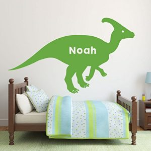 lime green dinosaur hadrosaurus vinyl wall decor