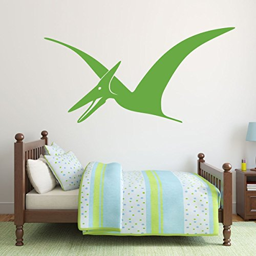 lime green dinosaur pterodactyl vinyl wall decor