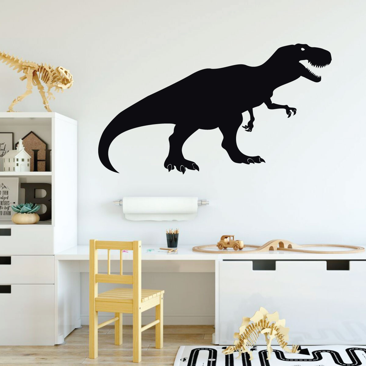 Large Dinosaur Decal T-Rex Name Wall Decal Kids Teen and Nursery Wall Decor Dinosaur DECAL ~ Large TREX Dinosaur Wall Decal
