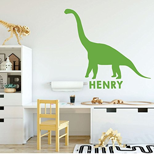lime green dinosaur brontosaurus 2 vinyl wall decor