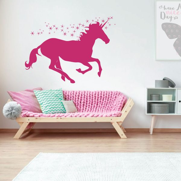 Unicorn Wall Decor Personalized Vinyl Decal For Girls