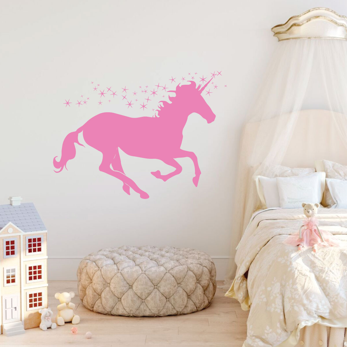 4a0cbc589dc7 Next. Unicorn Wall Decor Vinyl Decal Personalized For Girl s Bedroom