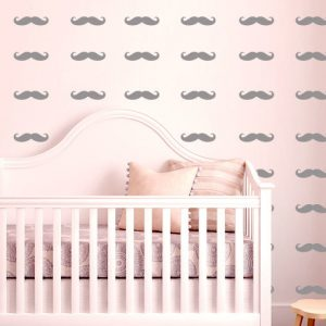 Little Man Mustache Vinyl Decorative Decals