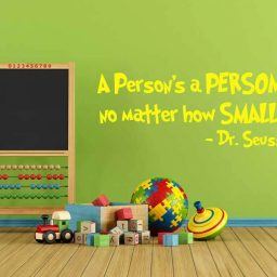 Dr Seuss Vinyl Wall Decal - A Person's A Person, No Matter How Small