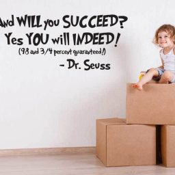 Dr Seuss Vinyl Wall Decal - And Will You Succeed? Quotation