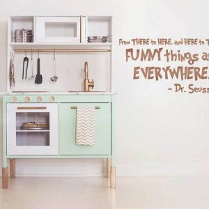Funny Things Are Everywhere Dr Seuss Quote Vinyl Wall Decal