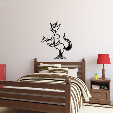 Dr. Seuss Character Fox in Socks Vinyl Wall Decal