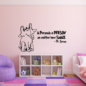 Dr. Seuss Horton Hears a Who and A Person's A Person No Matter How Small Childrens Book Character Vinyl Wall Decal
