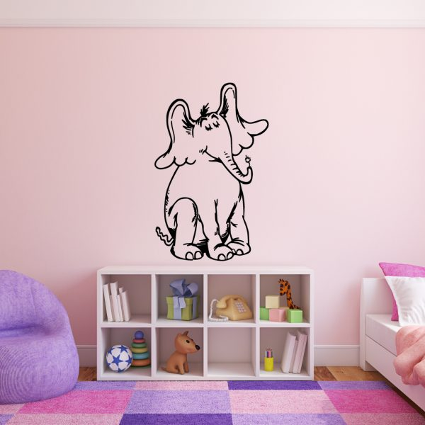 Dr. Seuss Horton from Horton Hears a Who Childrens Book Character Vinyl Wall Decal