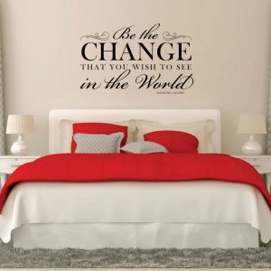 Inspirational Vinyl Wall Quote Mahatma Gandhi: Be The Change That You Wish To See In The World