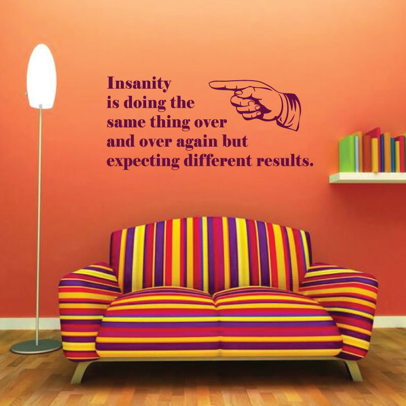 Vinyl Wall Decal Definition of Insanity - Doing The Same Thing Over