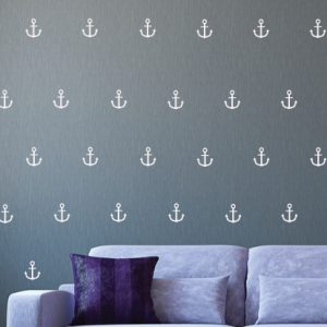 Small Anchor Wall Decals Nautical Wallpaper Pattern Navy, Marines