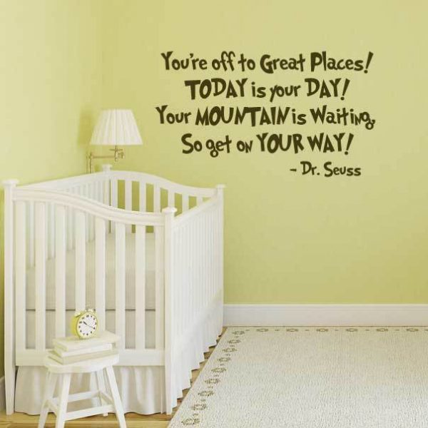 Dr Seuss Quote Decalsyoure Off To Great Places Today Is Your Day