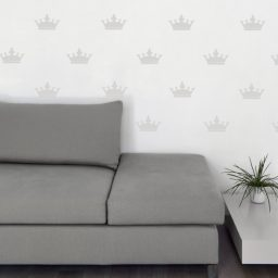 Vinyl Wall Decals Crown Shaped Removable Wallpaper Priness Royalty