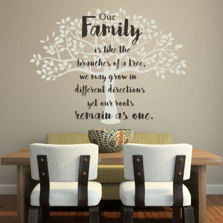 Family Tree Wall Decal Vinyl Decor for Decorating Home, Family Room, Kitchen, Bedroom