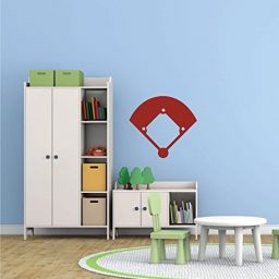 Baseball Wall Decals Baseball/Softball Field Sticker Design for Kids Room, Sports Fans, Home Decor