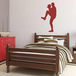 Baseball Player Wall Decal Pitching Boys' Room Vinyl Wall Decor