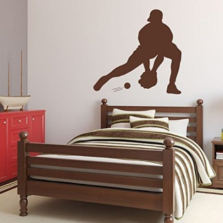 Baseball Player Wall Decal Catching Boys' Room Vinyl Wall Decor