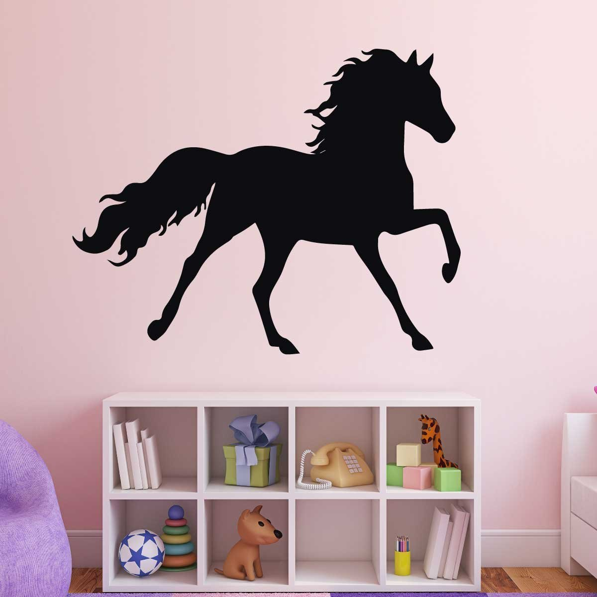 Horse wall decals for girls room vinyl wall decor for Equestrian wall mural