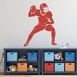 Large Football Player Wall Decals Vinyl Home, Gym or Locker Room Wall Decor