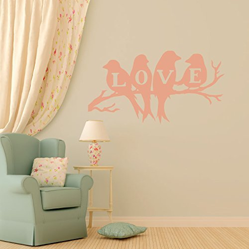 Love Bird Wall Decals With Birds On Branch Image Vinyl Home Wall Decor