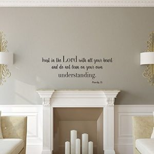 U201cTrust In The Lordu201d Wall Decal Psalms 3:5 Christian Bible Verse Home Decor
