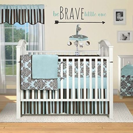 "Baby Wall Decal ""Be Brave Little One"" For Nursery Wall Decoration"