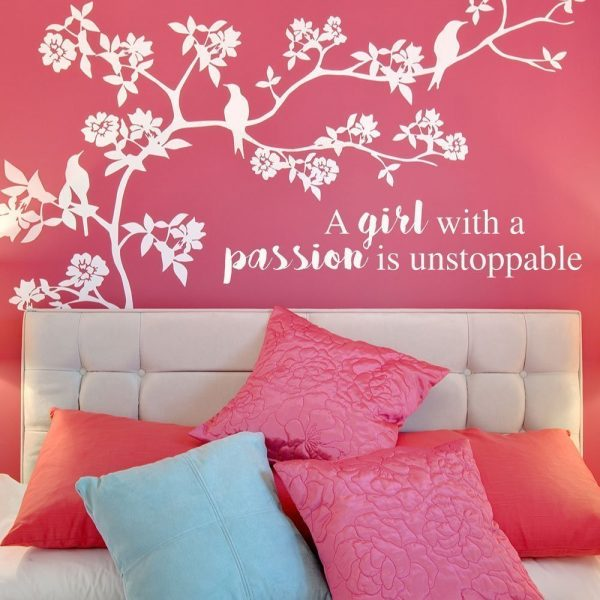 """""""A Girl With A Passion Is Unstoppable"""" Motivational Home Decor"""