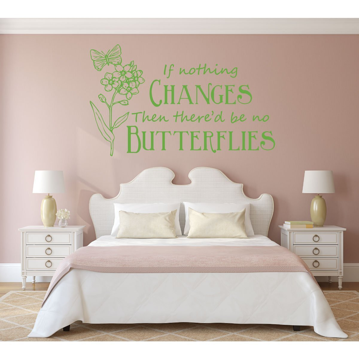 Girls Room Wall Decor - Butterfly Themed Vinyl Decal
