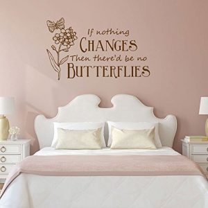 """If Nothing Changes Then There'd Be No Butterflies"" Vinyl Wall Decoration"