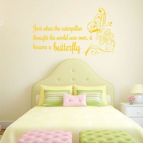Just When The Caterpillar Thought Life Quote Vinyl Decoration With
