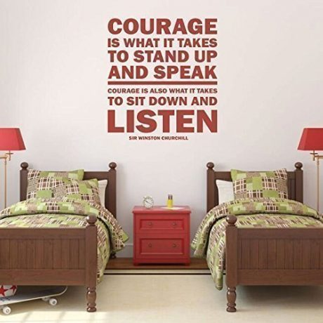 """""""Courage Is What It Takes"""" - Winston Churchill Inspirational Quote"""