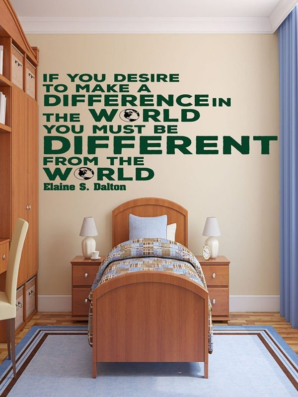 """Make A Difference In The World"" - Elaine S Dalton"