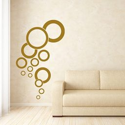 Vinyl Wall Decal Bubble Design Pattern Aquarium Bathroom Home Decor