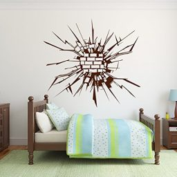 Wall Design Vinyl Sticker Decal Shattered Broken Bricks
