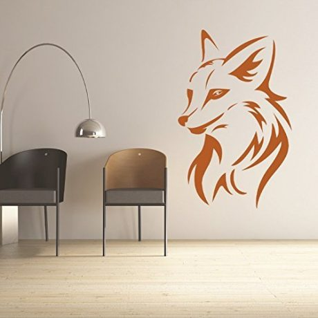Fox Head Wall Decal, Vinyl Decoration for Animal Lover or Hunter